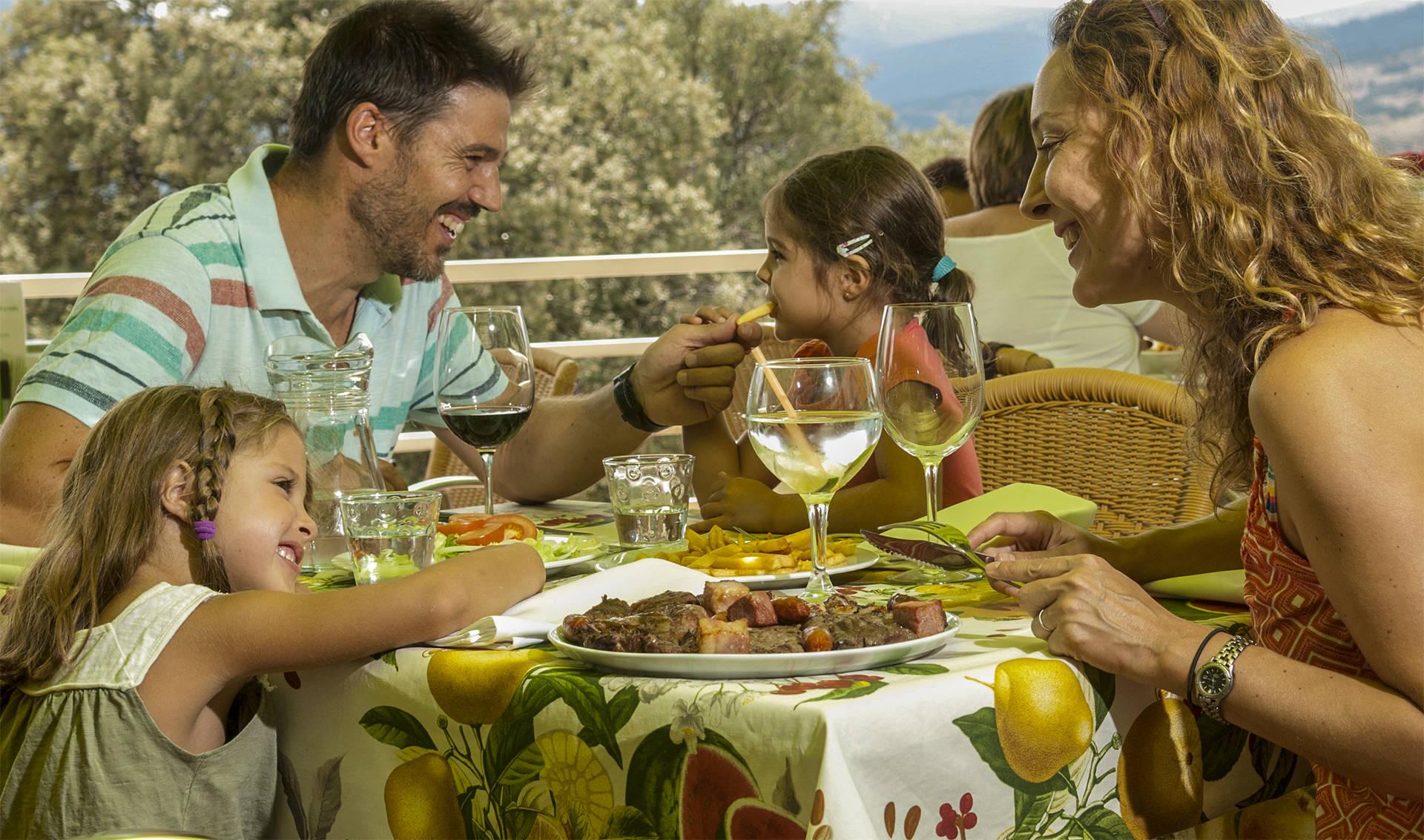 El placer de comer en plena naturaleza